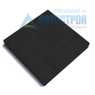 """Тротуарная плитка """"8 кирпичей"""" 40х40см толщиной 50мм черная"""