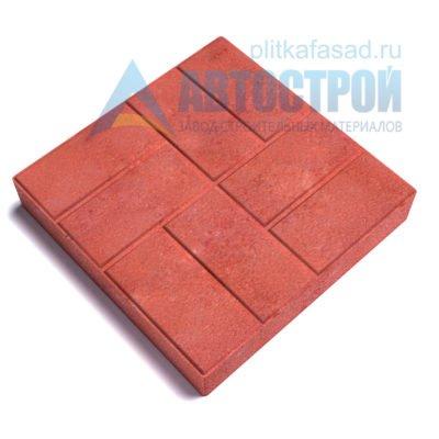 """Тротуарная плитка """"8 кирпичей"""" 40х40см толщиной 80мм красная"""
