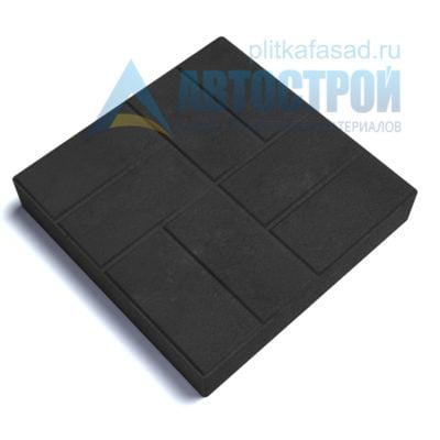 """Тротуарная плитка """"8 кирпичей"""" 50х50см толщиной 80мм черная"""