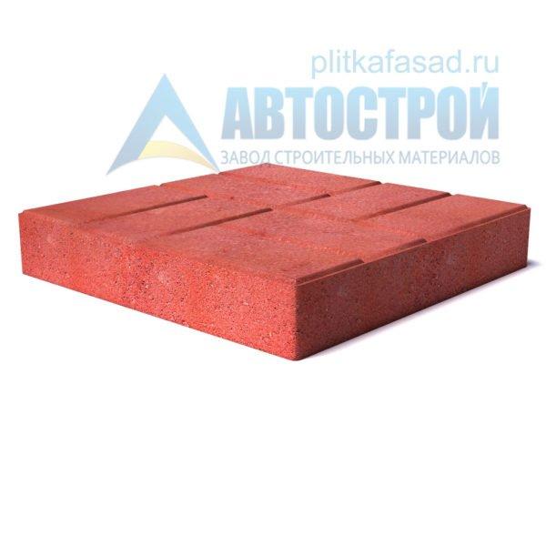 """Тротуарная плитка """"8 кирпичей"""" 50х50см толщиной 80мм красная"""