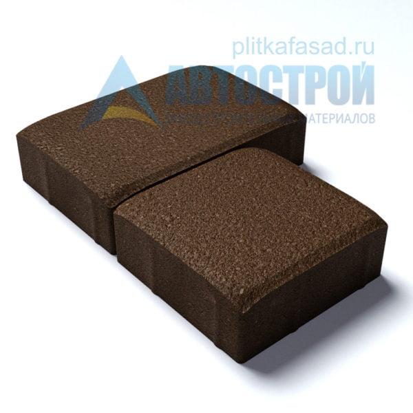 Тротуарная плитка «Английский булыжник» малый+большой 16х16/24см толщиной 40мм коричневая