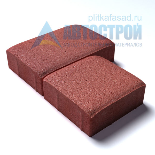 Тротуарная плитка «Английский булыжник» малый+большой 16х16/24см толщиной 40мм красная