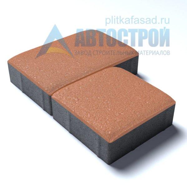 Тротуарная плитка «Английский булыжник» малый+большой 16х16/24см толщиной 40мм оранжевая
