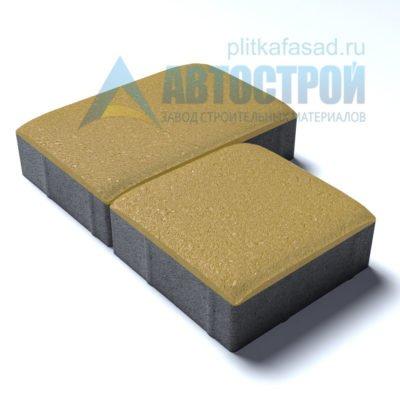 Тротуарная плитка «Английский булыжник» малый+большой 16х16/24см толщиной 40мм желтая