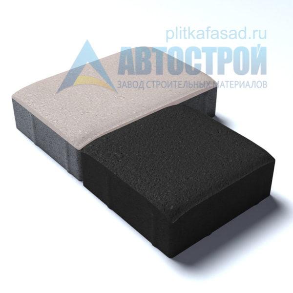 Тротуарная плитка «Английский булыжник» малый+большой 16х16/24см толщиной 60мм черная и белая
