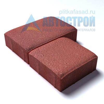 Тротуарная плитка «Английский булыжник» малый+большой 16х16/24см толщиной 60мм красная
