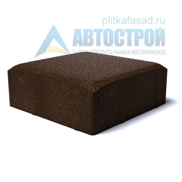 Тротуарная плитка «Английский булыжник малый» 16х16см толщиной 40мм коричневая