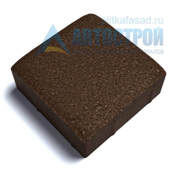 Тротуарная плитка «Английский булыжник малый» 16х16см толщиной 60мм коричневая