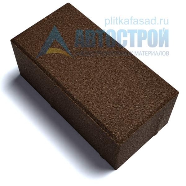 """Тротуарная плитка """"Голландский кирпич"""" 10х20 см толщиной 100мм коричневая"""