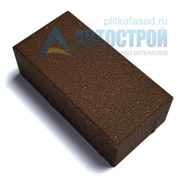 """Тротуарная плитка """"Голландский кирпич"""" 10х20 см толщиной 70мм коричневая"""
