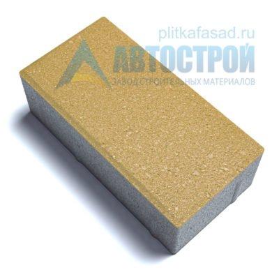 """Тротуарная плитка """"Голландский кирпич"""" 10х20 см толщиной 70мм желтая"""
