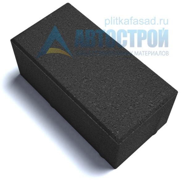 """Тротуарная плитка """"Голландский кирпич"""" 10х20 см толщиной 80мм черная"""