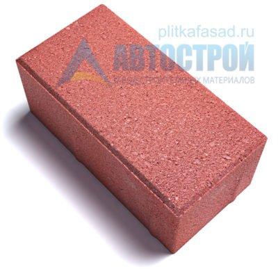 """Тротуарная плитка """"Голландский кирпич"""" 10х20 см толщиной 80мм красная"""