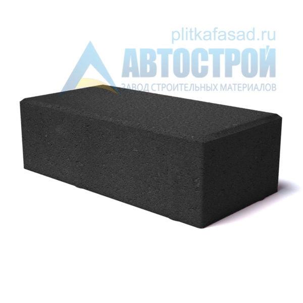"""Тротуарная плитка """"Брусчатка"""" с фаской 12х25см толщиной 65мм черная"""
