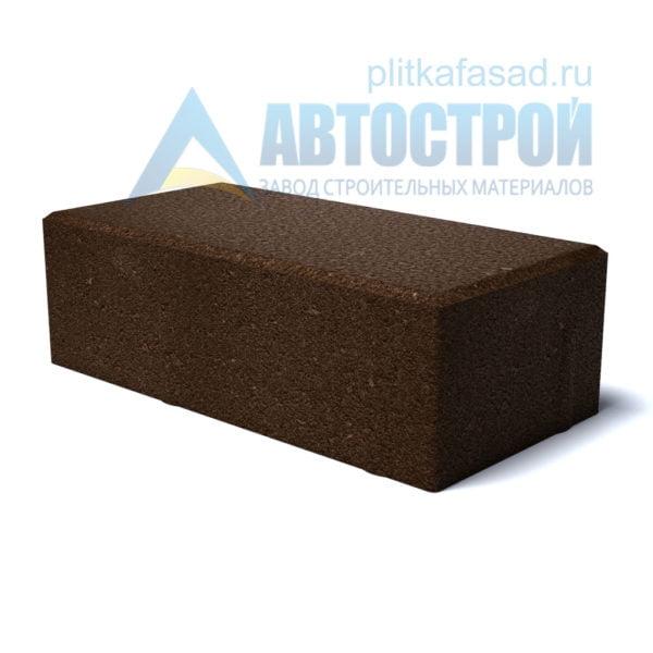 """Тротуарная плитка """"Брусчатка"""" с фаской 12х25см толщиной 65мм коричневая"""