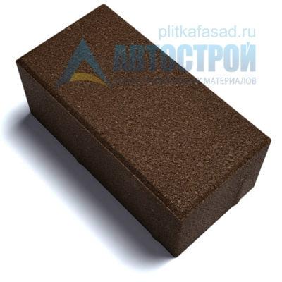 """Тротуарная плитка """"Брусчатка"""" с фаской 12х25см толщиной 80мм коричневая"""