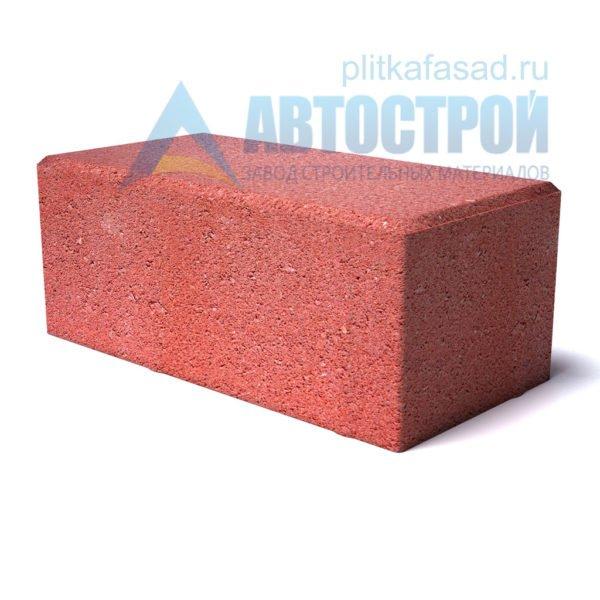 """Тротуарная плитка """"Брусчатка"""" с фаской 12х25см толщиной 80мм красная"""