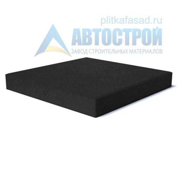 """Тротуарная плитка """"Квадрат"""" 30х30см толщиной 30мм черная"""