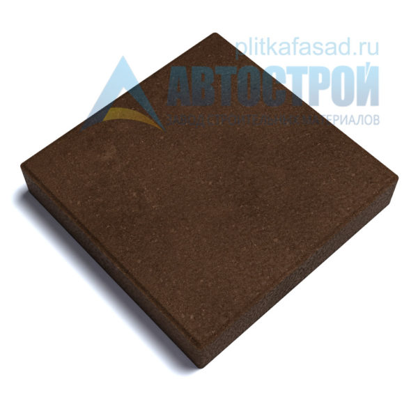 """Тротуарная плитка """"Квадрат"""" 30х30см толщиной 60мм коричневая"""