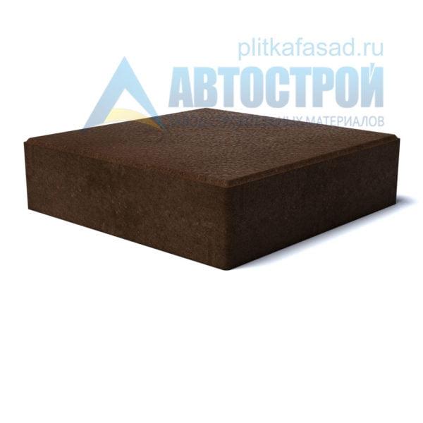 """Тротуарная плитка """"Квадрат"""" 30х30см толщиной 80мм коричневая"""