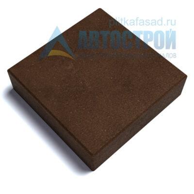 """Тротуарная плитка """"Квадрат"""" 30х30см толщиной 100мм коричневая"""