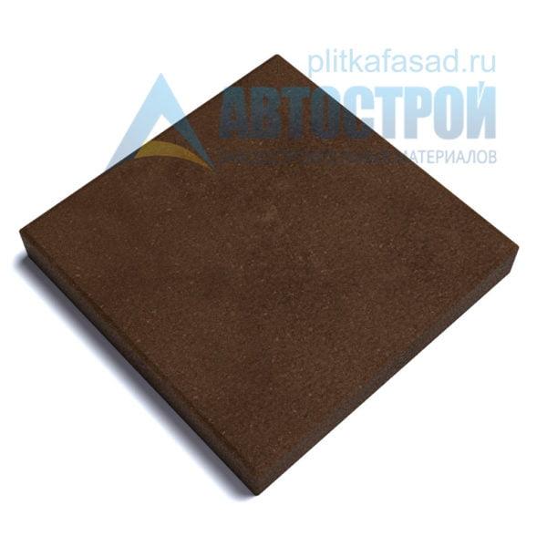 """Тротуарная плитка Квадрат"""" 40х40см толщиной 50мм коричневая"""