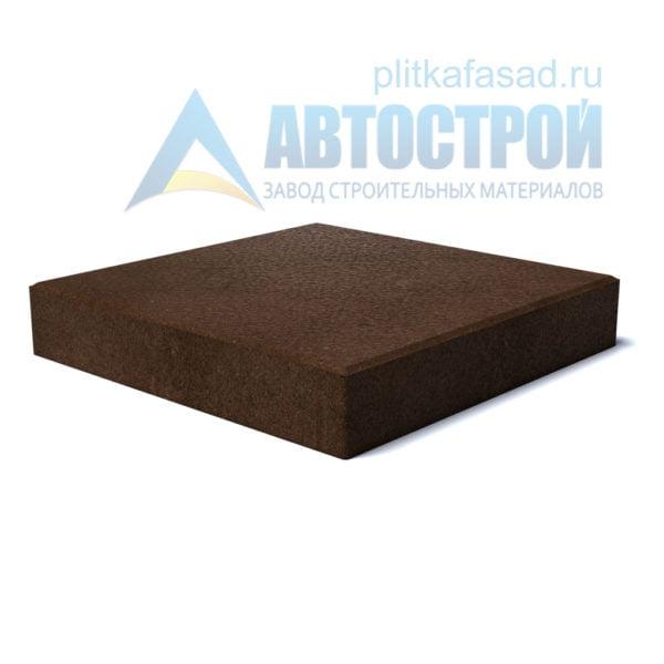 """Тротуарная плитка """"Квадрат"""" 40х40см толщиной 60 коричневая"""