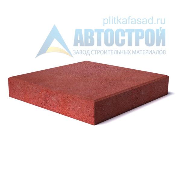"""Тротуарная плитка """"Квадрат"""" 40х40см толщиной 80мм красная"""