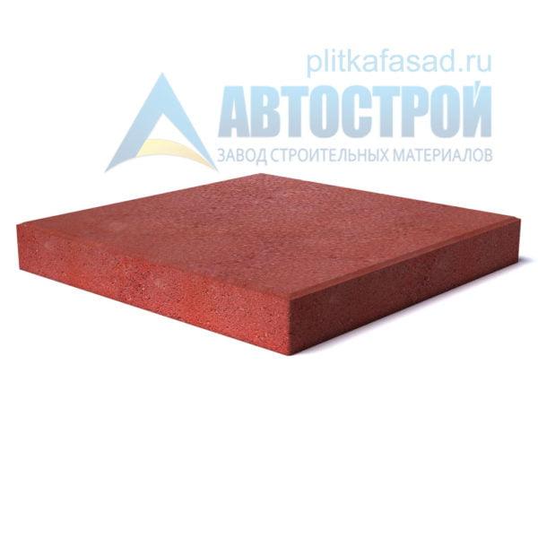 """Тротуарная плитка """"Квадрат"""" 50х50см толщиной 50мм красная"""