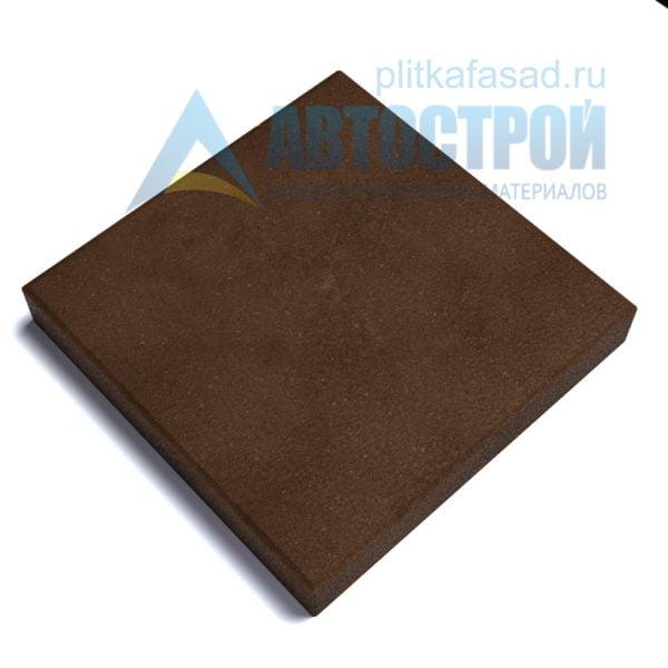 """Тротуарная плитка """"Квадрат"""" 50х50см толщиной 80мм коричневая"""