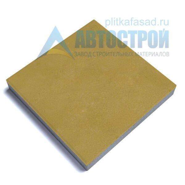 """Тротуарная плитка """"Квадрат"""" 60х60см толщиной 60мм желтая"""