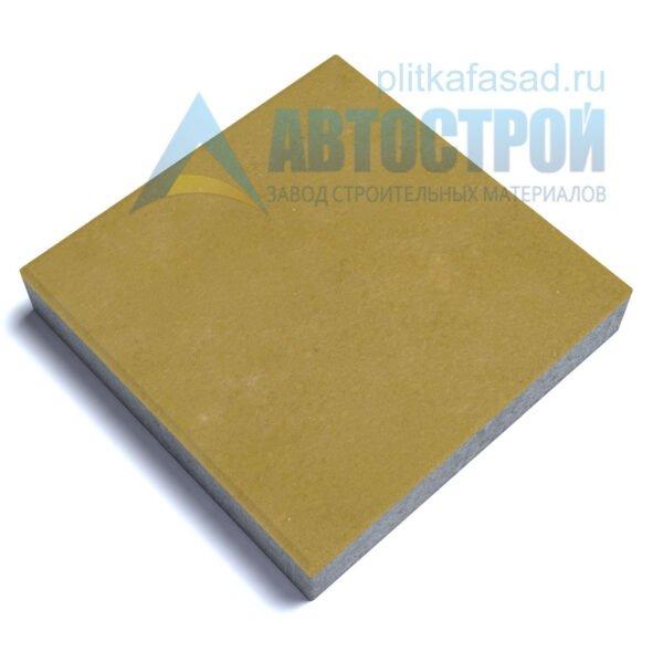 """Тротуарная плитка """"Квадрат"""" 60х60см толщиной 80мм желтая"""