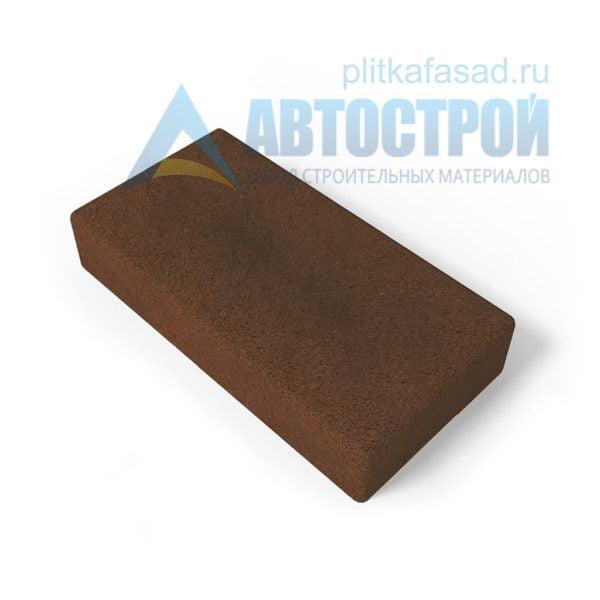 Тротуарная плитка 30х15см толщиной 80мм коричневая