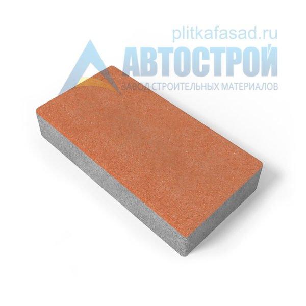 Тротуарная плитка 30х15см толщиной 80мм оранжевая