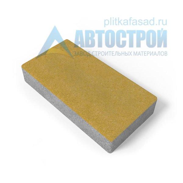 Тротуарная плитка 30х15см толщиной 80мм желтая