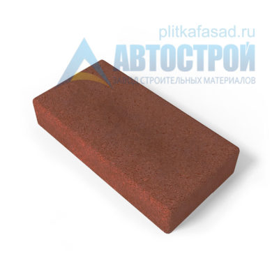 Тротуарная плитка 30х15см толщиной 60мм красная
