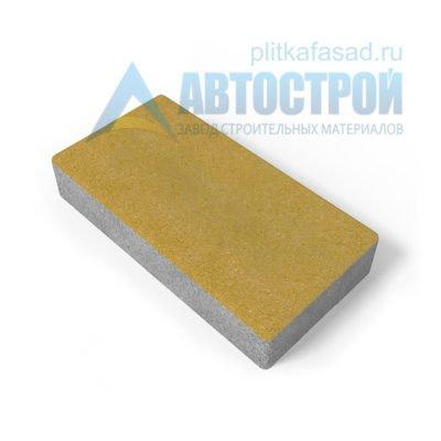 Тротуарная плитка 30х15см толщиной 60мм желтая