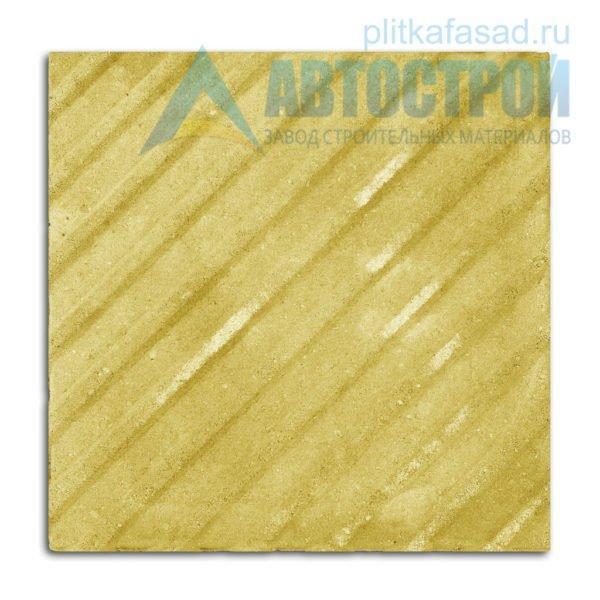 Тротуарная плитка тактильная с диагональными рифами 50х50см толщиной 50мм желтая