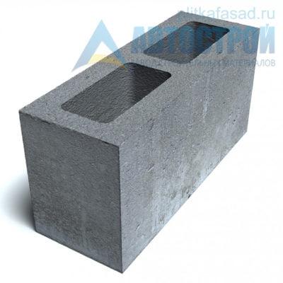 Блок бетонный для межквартирных перегородок КСР-ПР-ПС-39-100-F75-1250 140х190х390мм пустотелый