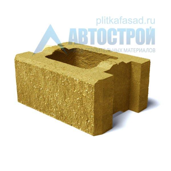 Блок для столбов забора желтый