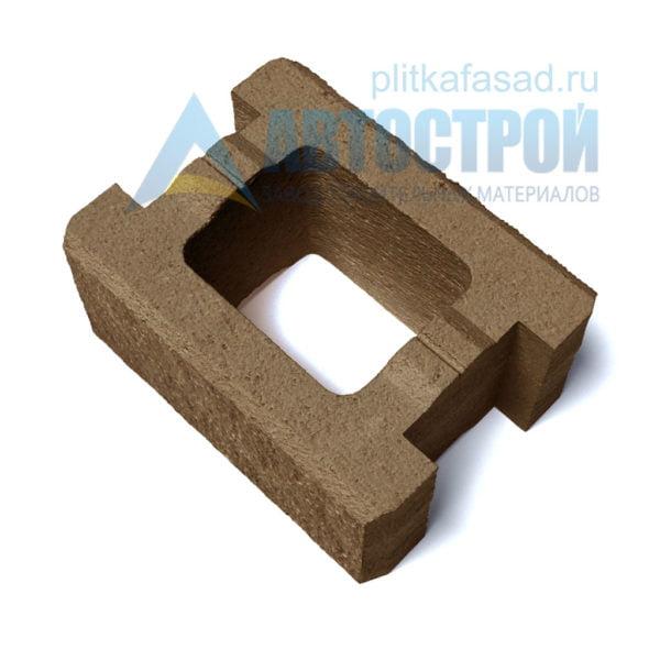 Блок для столбов забора коричневый