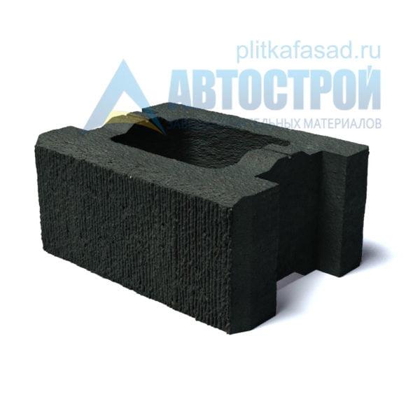 Блок для столбов забора черный