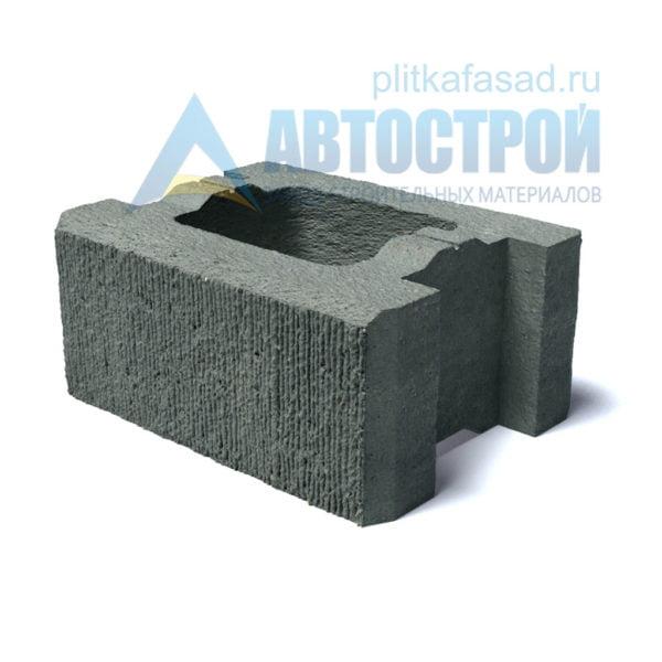 Блок для столбов забора серый