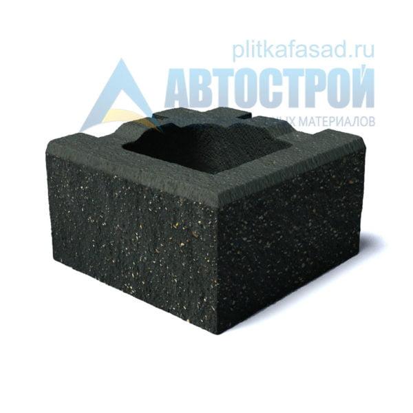 Блок для столбов забора угловой черный