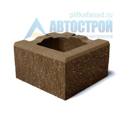 Блок для столбов забора угловой коричневый