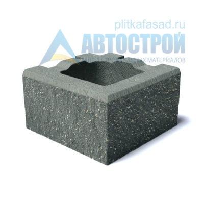 Блок для столбов забора угловой серый