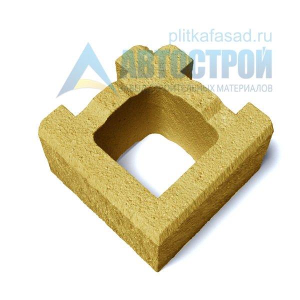 Блок для столбов забора угловой желтый