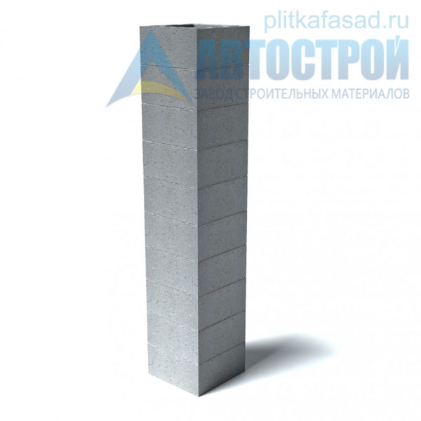 Блоки для дымоходов 390х190х390мм пример дымохода