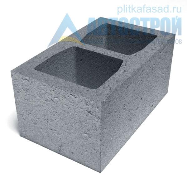 Блок бетонный стеновой КСР-ПР-ПС-39-100-F75-1100 (СКЦ) 240x190x390мм двухпустотный
