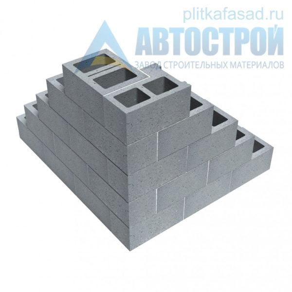 Блок бетонный стеновой КСР-ПР-ПС-39-100-F75-1100 (СКЦ) 290x190x390мм двухпустотный. Пример угла